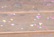 celebratory spring confetti
